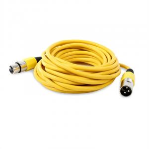XLR Cable 6 m Yellow Male to Female