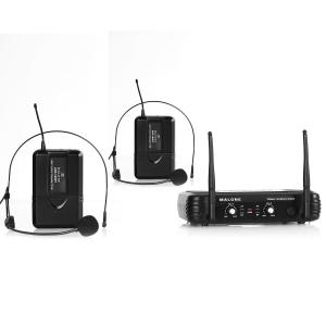 UHF 250 Duo2 Wireless Microphone System 2-Channel UHF 2 x Headset-Microphone