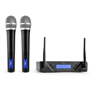 UHF 450 Duo1 UHF Wireless Microphone Set 2-Channel 2 x Handheld-Microphone