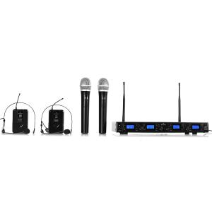 UHF-550 Quartett set microfono wireless 4 canali 2_x_Handheld_2_x_Headset_Mikrofon