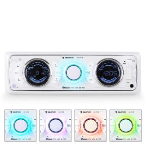 MD-170-BT Radio para coche MP3 USB SD RDS AUX blanco