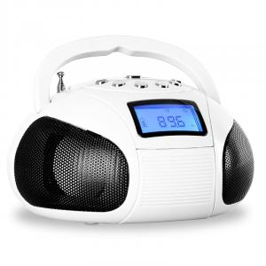 Bamboom mini-radio SD USB Bluetooth radio vit