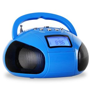 Bamboombox Radio SD USB Bluetooth Blue