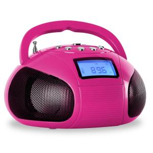 Bamboombox Radio SD USB Bluetooth Pink