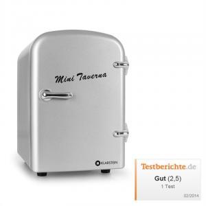 Bella Taverna frigorífico congelador/ caixa térmica mini 4 litros em cor prateado Prateado
