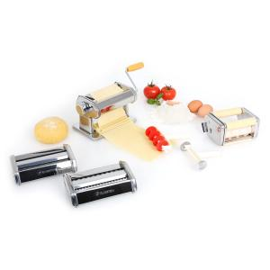 Classic Pasta Maker w/ 3 Machine Attachments Silver