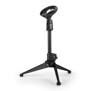 ST-4-TAB Table Stand with Microphone Clamp Black tripod / adjustable height