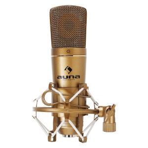 CM600 USB-kondensatormikrofon bronsfärgad studio kardioid Ad-omvandlare