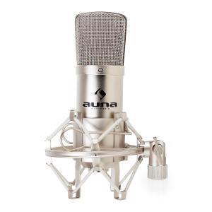 CM001S Professional Condenser Microphone Studio XLR Silver Silver