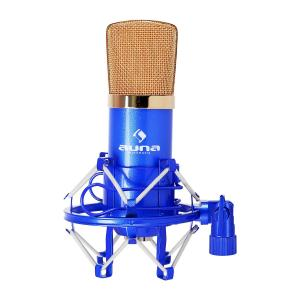 CM001BG Micrófono condensador de estudio XLR azul/oro Azul