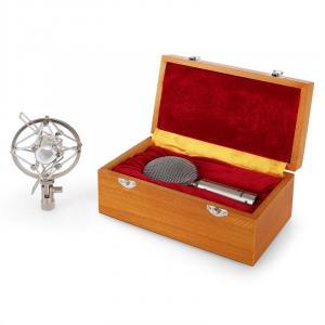 CRM15 Microfone de fita prateado XLR vintage