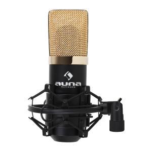 MIC-900BG USB mikrofon pojemnościowy czarny/złoty Czarny | Złoty