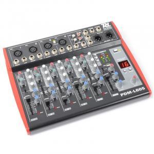 PDM--L605 Mesa de mezclas 6 canales USB AUX