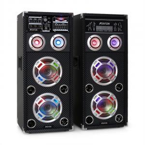 "Skytec KA-26 Karaoke Active Passive PA speaker set USB SD AUX 2x 16.5 cm (6.5"")"