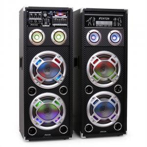 "Skytec KA-28 8"" Active Karaoke PA Speakers USB SD AUX 2x 50.8 cm (20"")"