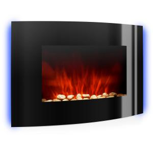 Lausanne Electric Fireplace 2000W LED Flame Effect Remote Control Black