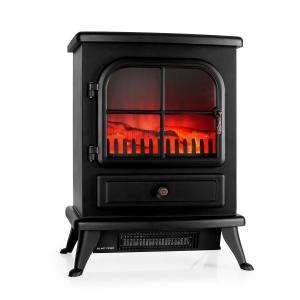 St. Moritz Electric Fireplace Heater 1800W Black