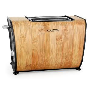 Bamboo Garden Toaster 870 W Dubbele gleuf Bamboe