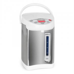 5L Water Thermo Pot with Pump Action - White/Silver White