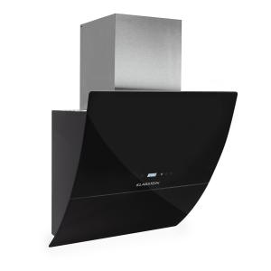 RGL600BL ergonomic extractor hood 3 power levels 600 m³/ hr 60cm black glass Black | 60