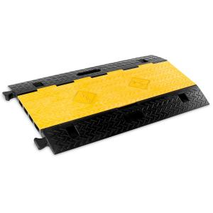 Cable Duct Cover 4 Channels PU Black