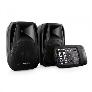 Combo210 Active 2-Way PA Speaker Pair USB SD AUX 300W RMS