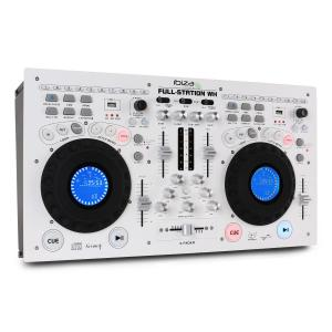 Full-Station DJ Set Dual CD/MP3 Player Scratch Mixer USB SD White