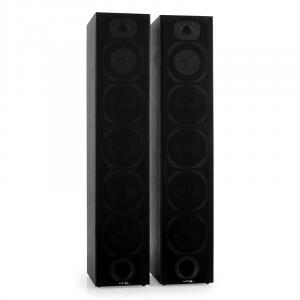 V7B Pair 4-Way Floorstanding Tower Speakers Bass Reflex System Black Black