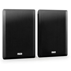 SSP501F Pair 2-Way Mountable Wall Speakers Extra-Flat Black Black
