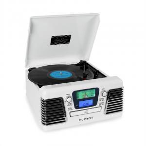 RMC100 Music Center Plattenspieler Stereo weiß USB SD CD MP3 UKW