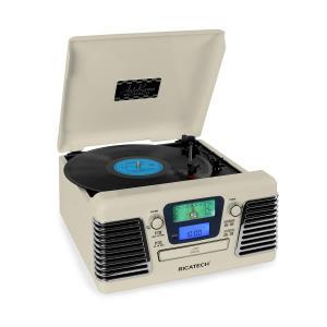 RMC100 Music Center Plattenspieler Stereo creme USB SD CD MP3 UKW