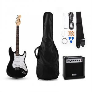 RC100 E-Guitar-Set Stratocaster Style Black