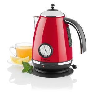 Aquavita Chalet Electric Kettle 1.7L 2200W Rose Pink Red
