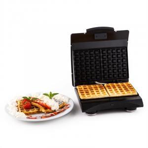 Waffle Buddy Waffeleisen 700 W 2 Heizflächen Edelstahl Silber