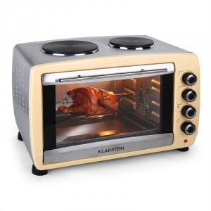 Omnichef 45HC -leivinuuni 2 lämpölevyä 2000W 45 litraa ruostumatonta terästä creme kerma