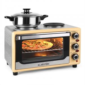 Omnichef 23HC Mini Oven with Hot Plates 1500W 23L Cream Creme