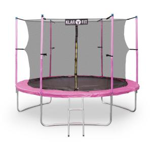 Rocket Girl XXL 10ft Trampoline with Enclosed Safety Net Pink Pink | 305 cm