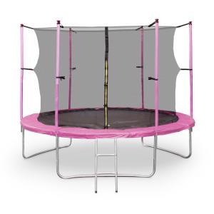 Rocketgirl XXL Gartentrampolin mit Sicherheitsnetz & Leiter 305 cm Pink Pink | 305 cm