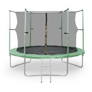 Rocketstart XXXL -trampoliini 400cm turvaverkko vihreä | 400 cm