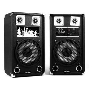 """BSX-10A Active PA Speakers USB microSD AUX MIC 600W Black 25 cm (10"""")"""