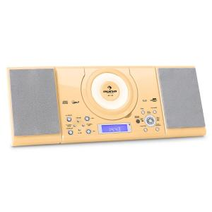 MC-120 Stereo USB MP3 CD AM/FM wandmontage crème Crème