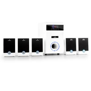 5.1-JW multimedia surround-set aktieve luidspreker home-cinema 95W RMS AUX wit