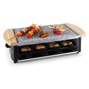 Chateaubriand Raclette Grill Natural Stone Plate Skewers 8 Person 1200W natural stone