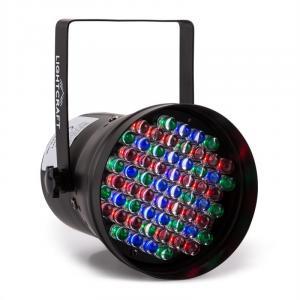 Hepburn reflektor dyskotekowy LED-PAR36 DMX 60 RGB LED czarny
