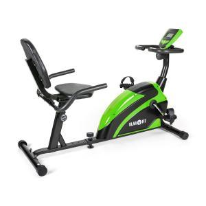 Relaxfiets 5G ergometer Ligfiets 100kg max. groen zwart Zwart