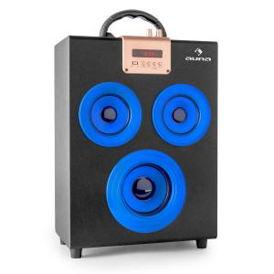 Central Park 2.1 Altavoz con Bluetooth USB SD móvil Azul