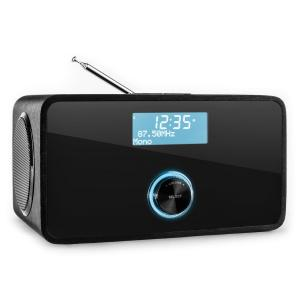 DABStep DAB/DAB+ digitalradio Bluetooth FM/MV RDS väckarklocka Svart