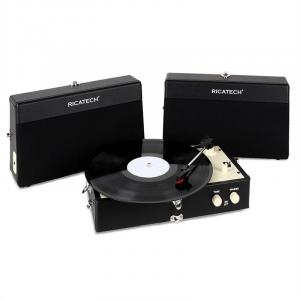 RT80 Vintage Record Player Black AUX
