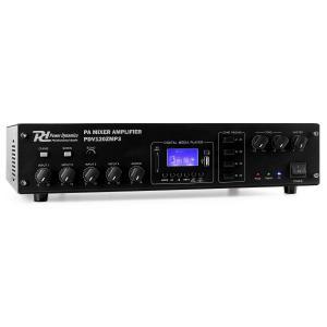 PDV120ZMP3 4-Channel PA Amplifier 4-Zone 120W MP3