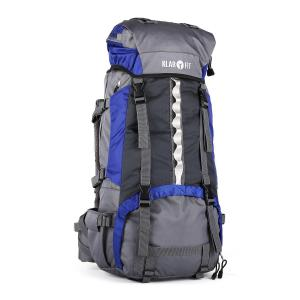 Heyerdahl Trek Backpack Travel Rucksack Blue 70L Blue
